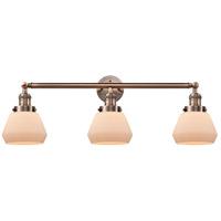 Innovations Lighting 205-AC-S-G171-LED Fulton LED 30 inch Antique Copper Bathroom Fixture Wall Light Adjustable