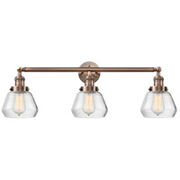 Innovations Lighting 205-AC-S-G172 Fulton 3 Light 30 inch Antique Copper Bathroom Fixture Wall Light Adjustable