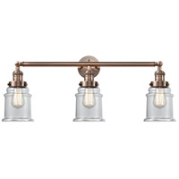 Innovations Lighting 205-AC-S-G182 Canton 3 Light 30 inch Antique Copper Bath Vanity Light Wall Light, Franklin Restoration