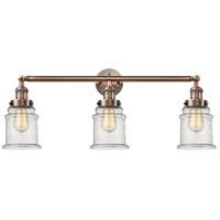 Innovations Lighting 205-AC-S-G184 Canton 3 Light 30 inch Antique Copper Bath Vanity Light Wall Light, Franklin Restoration