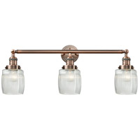 Innovations Lighting 205-AC-S-G302 Colton 3 Light 32 inch Antique Copper Bathroom Fixture Wall Light Adjustable