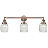 Innovations Lighting 205-AC-S-G302 Colton 3 Light 32 inch Antique Copper Bath Vanity Light Wall Light, Franklin Restoration
