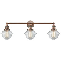 Innovations Lighting 205-AC-S-G532-LED Small Oxford LED 34 inch Antique Copper Bathroom Fixture Wall Light Adjustable