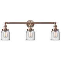 Innovations Lighting 205-AC-S-G54-LED Small Bell LED 30 inch Antique Copper Bath Vanity Light Wall Light, Franklin Restoration