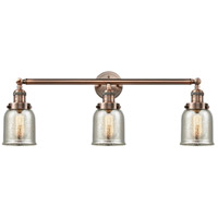 Innovations Lighting 205-AC-S-G58 Small Bell 3 Light 30 inch Antique Copper Bathroom Fixture Wall Light Adjustable