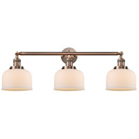 Innovations Lighting 205-AC-S-G71-LED Large Bell LED 32 inch Antique Copper Bathroom Fixture Wall Light Adjustable