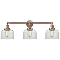 Innovations Lighting 205-AC-S-G72-LED Large Bell LED 32 inch Antique Copper Bathroom Fixture Wall Light Adjustable