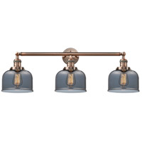 Innovations Lighting 205-AC-S-G73-LED Large Bell LED 32 inch Antique Copper Bathroom Fixture Wall Light Adjustable