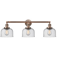 Innovations Lighting 205-AC-S-G74-LED Large Bell LED 32 inch Antique Copper Bathroom Fixture Wall Light Adjustable