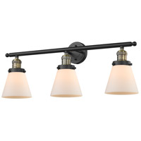 Innovations Lighting 205-BAB-G61-LED Small Cone LED 30 inch Black Antique Brass Bathroom Fixture Wall Light