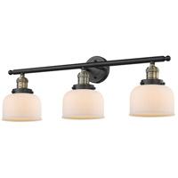 Innovations Lighting 205-BAB-G71 Large Bell 3 Light 32 inch Black Antique Brass Bathroom Fixture Wall Light