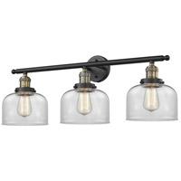 Innovations Lighting 205-BAB-G72 Large Bell 3 Light 32 inch Black Antique Brass Bathroom Fixture Wall Light