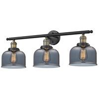 Innovations Lighting 205-BAB-G73 Large Bell 3 Light 32 inch Black Antique Brass Bathroom Fixture Wall Light
