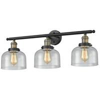 Innovations Lighting 205-BAB-G74-LED Large Bell LED 32 inch Black Antique Brass Bathroom Fixture Wall Light