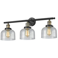 Innovations Lighting 205-BAB-G74 Large Bell 3 Light 32 inch Black Antique Brass Bathroom Fixture Wall Light