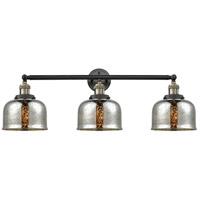 Innovations Lighting 205-BAB-G78-LED Large Bell LED 32 inch Black Antique Brass Bath Vanity Light Wall Light Franklin Restoration