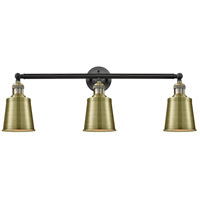 Innovations Lighting 205-BAB-M9-AB Addison 3 Light 32 inch Black Antique Brass Bath Vanity Light Wall Light Franklin Restoration