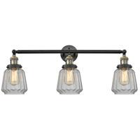Innovations Lighting 205-BAB-S-G142-LED Chatham LED 30 inch Black Antique Brass Bathroom Fixture Wall Light Adjustable