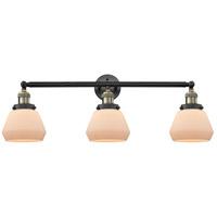 Innovations Lighting 205-BAB-S-G171-LED Fulton LED 30 inch Black Antique Brass Bathroom Fixture Wall Light Adjustable