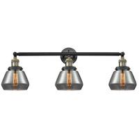 Innovations Lighting 205-BAB-S-G173-LED Fulton LED 30 inch Black Antique Brass Bathroom Fixture Wall Light Adjustable