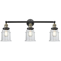 Innovations Lighting 205-BAB-S-G182-LED Canton LED 30 inch Black Antique Brass Bathroom Fixture Wall Light Adjustable