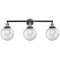 Innovations Lighting 205-BAB-S-G204-8-LED Beacon LED 32 inch Black Antique Brass Bathroom Fixture Wall Light Adjustable