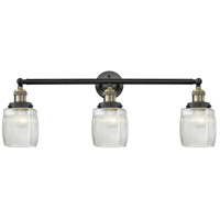 Innovations Lighting 205-BAB-S-G302 Colton 3 Light 32 inch Black Antique Brass Bathroom Fixture Wall Light Adjustable