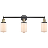 Innovations Lighting 205-BAB-S-G311-LED Dover LED 31 inch Black Antique Brass Bath Vanity Light Wall Light Franklin Restoration