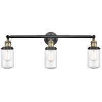Innovations Lighting 205-BAB-S-G314-LED Dover LED 31 inch Black Antique Brass Bath Vanity Light Wall Light Franklin Restoration