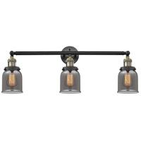 Innovations Lighting 205-BAB-S-G53-LED Small Bell LED 30 inch Black Antique Brass Bathroom Fixture Wall Light Adjustable