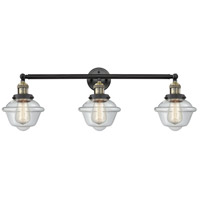 Innovations Lighting 205-BAB-S-G532 Small Oxford 3 Light 34 inch Black Antique Brass Bathroom Fixture Wall Light Adjustable