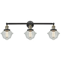 Innovations Lighting 205-BAB-S-G534 Small Oxford 3 Light 34 inch Black Antique Brass Bathroom Fixture Wall Light Adjustable