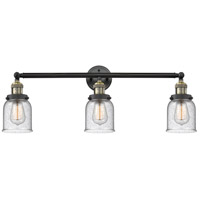 Innovations Lighting 205-BAB-S-G54-LED Small Bell LED 30 inch Black Antique Brass Bathroom Fixture Wall Light Adjustable