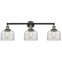 Innovations Lighting 205-BAB-S-G72-LED Large Bell LED 32 inch Black Antique Brass Bathroom Fixture Wall Light Adjustable