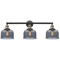 Innovations Lighting 205-BAB-S-G73-LED Large Bell LED 32 inch Black Antique Brass Bathroom Fixture Wall Light Adjustable