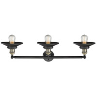 Innovations Lighting 205-BAB-S-M6 Railroad 3 Light 32 inch Black Antique Brass Bath Vanity Light Wall Light, Franklin Restoration photo thumbnail