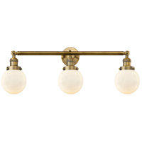 Innovations Lighting 205-BB-G201-6-LED Beacon LED 30 inch Brushed Brass Bath Vanity Light Wall Light, Franklin Restoration