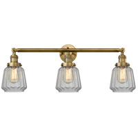 Innovations Lighting 205-BB-S-G142 Chatham 3 Light 30 inch Brushed Brass Bathroom Fixture Wall Light Adjustable