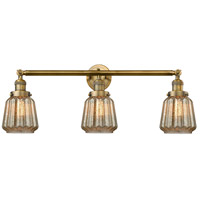 Innovations Lighting 205-BB-S-G146 Chatham 3 Light 30 inch Brushed Brass Bathroom Fixture Wall Light Adjustable