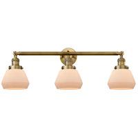 Innovations Lighting 205-BB-S-G171-LED Fulton LED 30 inch Brushed Brass Bathroom Fixture Wall Light Adjustable