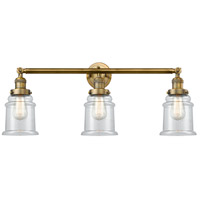 Innovations Lighting 205-BB-S-G182-LED Canton LED 30 inch Brushed Brass Bathroom Fixture Wall Light Adjustable
