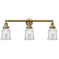 Innovations Lighting 205-BB-S-G182 Canton 3 Light 30 inch Brushed Brass Bathroom Fixture Wall Light Adjustable