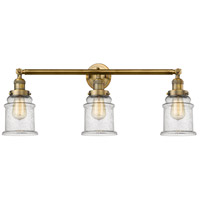 Innovations Lighting 205-BB-S-G184-LED Canton LED 30 inch Brushed Brass Bathroom Fixture Wall Light Adjustable