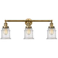 Innovations Lighting 205-BB-S-G184 Canton 3 Light 30 inch Brushed Brass Bathroom Fixture Wall Light Adjustable
