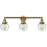 Innovations Lighting 205-BB-S-G204-6-LED Beacon LED 30 inch Brushed Brass Bathroom Fixture Wall Light Adjustable