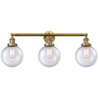 Innovations Lighting 205-BB-S-G204-8-LED Beacon LED 32 inch Brushed Brass Bathroom Fixture Wall Light Adjustable