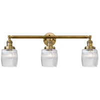 Innovations Lighting 205-BB-S-G302 Colton 3 Light 32 inch Brushed Brass Bathroom Fixture Wall Light Adjustable