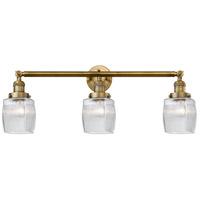 Innovations Lighting 205-BB-S-G302-LED Colton LED 32 inch Brushed Brass Bath Vanity Light Wall Light, Franklin Restoration