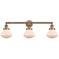 Innovations Lighting 205-BB-S-G321 Olean 3 Light 31 inch Brushed Brass Bath Vanity Light Wall Light Franklin Restoration