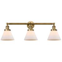 Innovations Lighting 205-BB-S-G41-LED Large Cone LED 32 inch Brushed Brass Bath Vanity Light Wall Light, Franklin Restoration